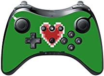 Gamer Heart Wii U Pro Controller Vinyl Decal Sticker Skin by Demon Decal