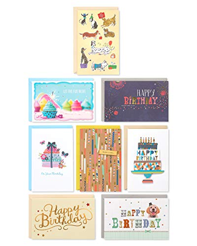 American Greetings Premium Classic Birthday Greeting Card Collection, 8-Count