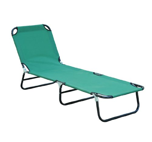 deluxe folding adjustable sun lounger