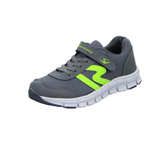 Sneakers BNS15066 Jungen Klettverschluss/Slipper Halbschuh Grau (Grau)