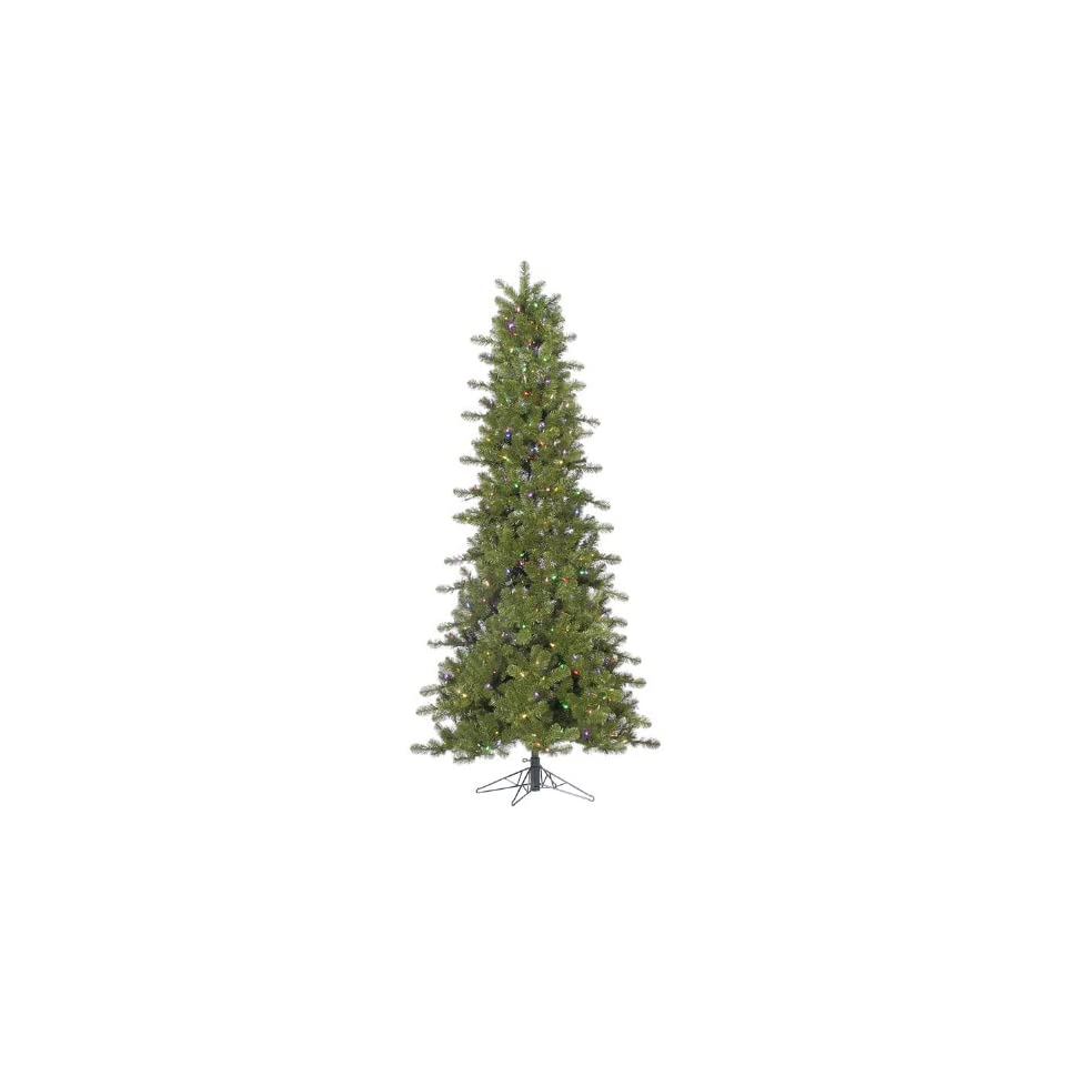 4.5 Pre Lit Slim Ontario Spruce Artificial Christmas Tree Multi Color LED Lights