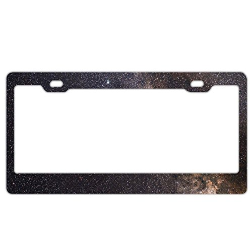 YEX Abstract Our Location in Milky Way Galaxy License Plate Frame Car Tag Frame Auto License Plate Holder 12