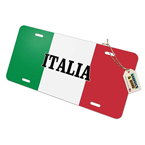 Rome Plate - Graphics and More Italia Italy Italian Flag Novelty Metal Vanity Tag License Plate