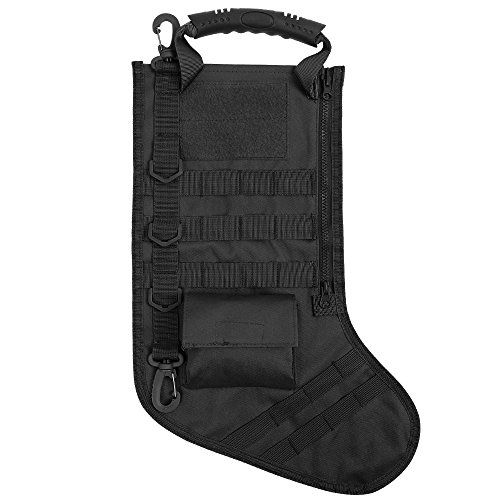 Tactical Bag Accessories, Molle Dump Pouch Magazine Storage Bag Christmas Stockings for Outdoor Hunting Shooting Military Black by CS Force