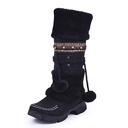 Da per Cinturino comode Invernali Caviglia Scarpe con da Nero AERZ da con   dd1d7e