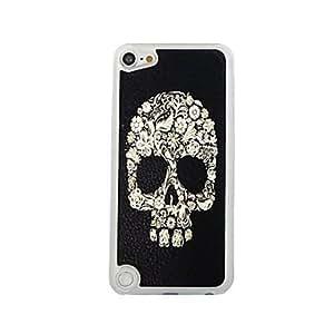 FJM Flower Skull Leather Vein Pattern PC Hard Case for iPod touch 5
