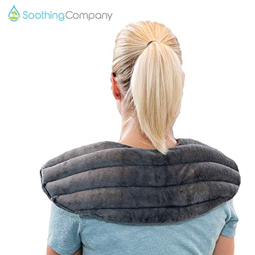 (Microwavable Heating Pad for Neck and Shoulder Pain Relief | Herbal Aromatherapy | Hot/Cold Neck Wrap | Perfect for Headache, Migraine Relief, Anxiety and Stress)