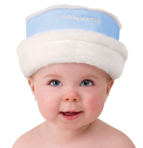 Kiddopotamus Roll Brim Hat Faux Suede Small 0 - 6 Months, Blue (Discontinued by -