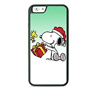 LJF phone case Case Fun Case Fun Christmas Snoopy and Woodstock Celebrate TPU Rubber Back Case Cover for Apple iPhone 6 4.7 inch