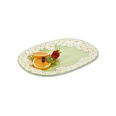 Abbott Daisy Oval Platter- Ceramic- 14.5