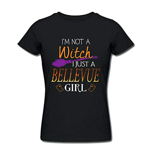 Halloween Shirts For Bellevue Girl - I Am Not a Witch I Just a Bellevue Girl - Womens T Shirts X-Large Black]()
