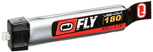 Venom Fly 45C 1S 180mAh 3.7V LiPo Battery with E-flite MCX Plug x4 Pack Combo - Compare to E-flite (160mah Battery)