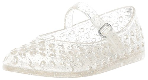 The Children's Place Girls' TG MJ Jelly Flat Sandal, Silver, TDDLR 6 Medium US Infant