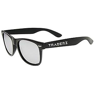 TRADERZ Radiant Unisex Reflective Color Mirror Lens Sunglasses (BLACK, SILVER)