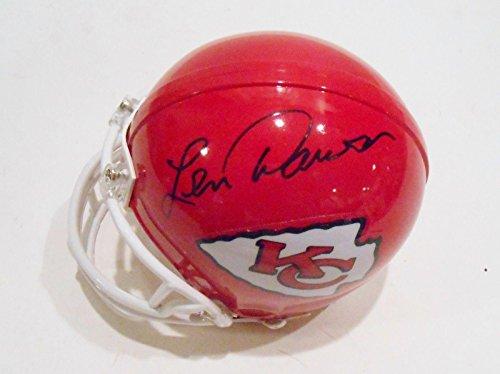 - Len Dawson Signed Mini Helmet - w COA Hall of Fame #1 - Autographed NFL Mini Helmets