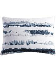 Vera Wang | Obscura Collection | Sham - 100% Cotton Sateen, Silky & Soft, Envelope Closure, Standard, Blue