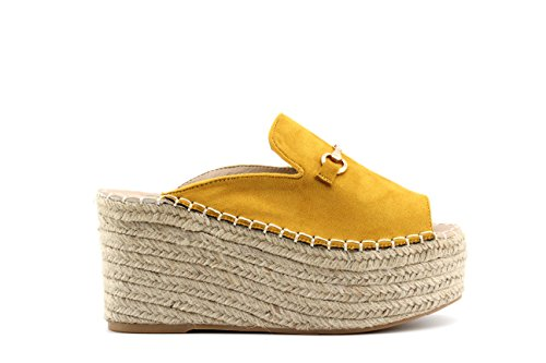 Modelisa - Sandalias Cuña Mujer Amarillo