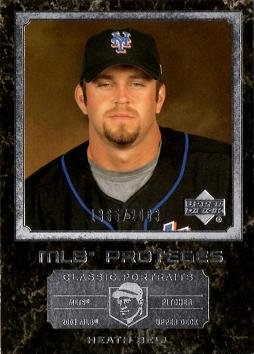 2003 Upper Deck Classic Portraits Baseball #170 Heath Bell Rookie Card - Only 2,003 made!