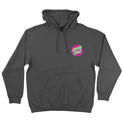 Santa Cruz Mens Slasher Neon Hoody Pullover Sweatshirts Medium Charcoal (Santa Hoodie)