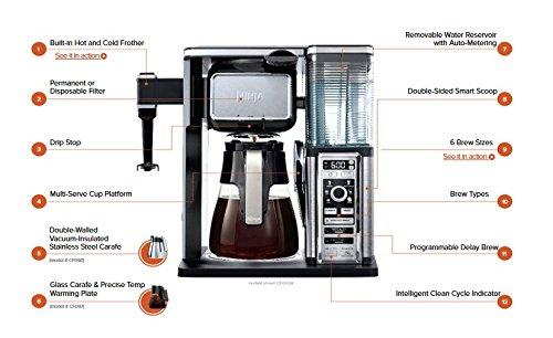 Ninja Coffee Bar Auto Iq Cf091 Coffee Maker Deals Coupons