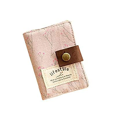 Amazon 20 pockets retro portable canvas floral girly name 20 pockets retro portable canvas floral girly name business credit card holder instant pictures colourmoves