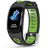 LATITOP Waterproof Fitness Tracker Watch with Heart Rate Monitor, Pedometer, Calorie Counter, Sleep Monitor, Stopwatch, 3D Color Screen Activity Tracker for Kids Women Men(Green)