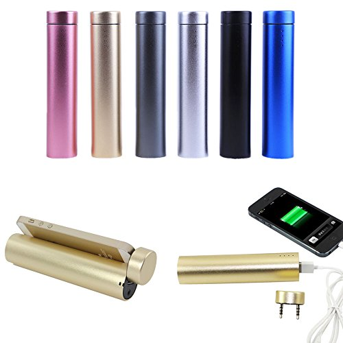 Bette 3in1 Multifunction 3500mAh Portable Charger External Battery Pack Mobile Power Bank + Speaker + Cell Phone Stand with Aluminum Body Design for iPhone 6 Plus 6 5S 5C 5 4S 4, iPod, Samsung Galaxy S6 S5 S4 S3 S2 Note 4 3 2 HTC One M8, LG G3 G2, MP3 Player, Digital Cameras, Android Smartphones and More, (Gold)
