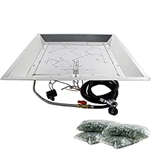 "Outdoor GreatRoom Company D.I.Y. 24"" x 24"" Square Burner (NG Only)"