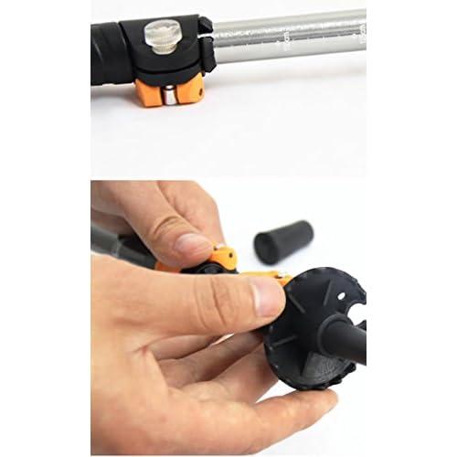 Alliage d'aluminium de haute résistance Alpenstock Verrouillage ultra-léger Bâton de canne d'escalade ( Couleur : Rouge )