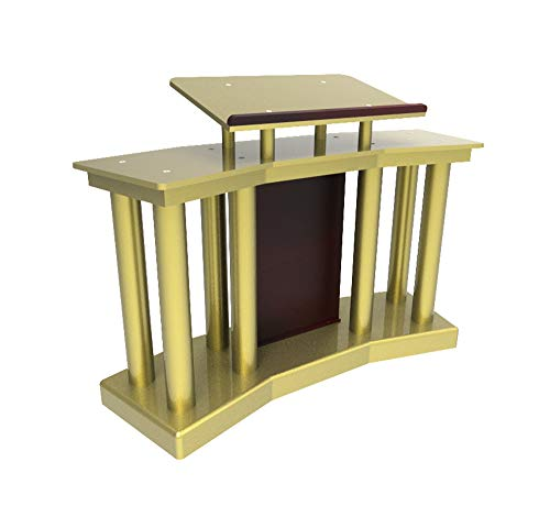 FixtureDisplays Deluxe Wood Acrylic Plexiglass Podium Pulpit Lectern 14305
