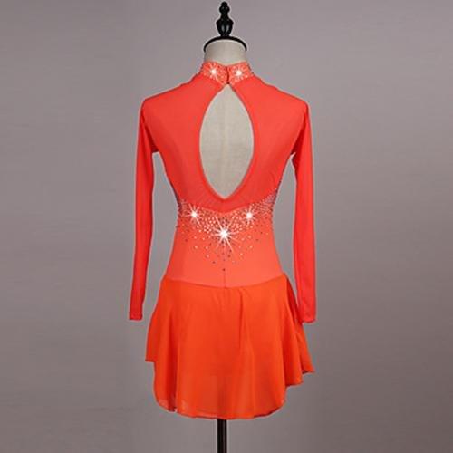 Lbfbrr Diamantini Ghiaccio Sishuinianhua Da Vestiti Arancione Elevata Per Sul Pattinaggio Orange Vestito Ragazza Artistico Donna Scuro Blu Con Zndvrd