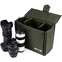 Caden Insert Dslr Inner Lens Bag Waterproof Shockproof Travel Protective Bag for Sony Canon Nikon Olympus Pentax DSLR SLR and etc