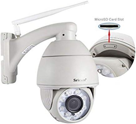 WiFi Cam/éra IP 720P Sricam SP017 Cam/éra de S/écurit/é Sans fil Cam/éra de Surveillance Audio Bidirectionnel pour B/éb/é A/în/é avec lapplication android//iOS