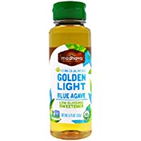 Madhava Agave Nectar Natural Sweetener Organic Golden Light Blue 11.75 oz (333 g) Sweetener