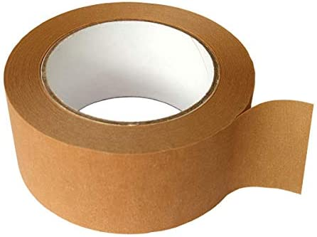 Eco-Friendly Vegan Friendly Self-Adhesive Kraft Paper Tape Fully Recyclable Rolls of 25 mm x 50 Meter Brown Paper Framers 3