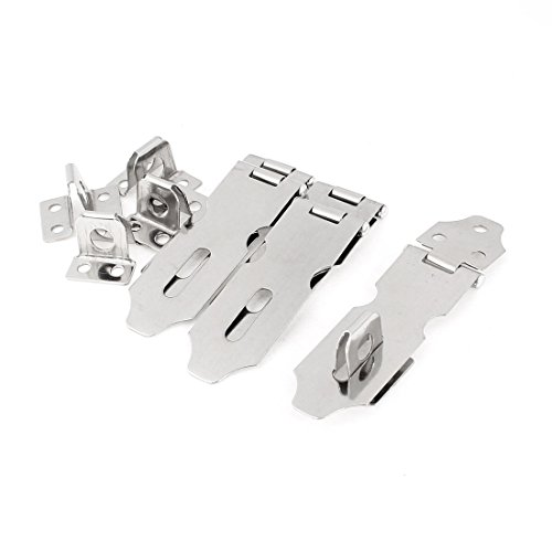 Stainless Steel Safety Padlock Latch Hasp Set of 4 - 7