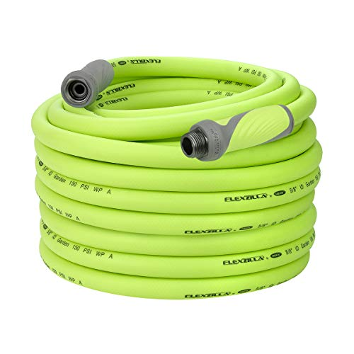 Flexzilla Garden Hose with SwivelGrip, 5/8 in. x 100 ft., Heavy Duty, Lightweight, Drinking Water Safe - HFZG5100YWS (Packaging May Vary)