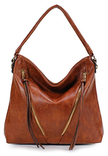Scarleton Chic Front Zipper Hobo Bag H188349 - Burnt Umber