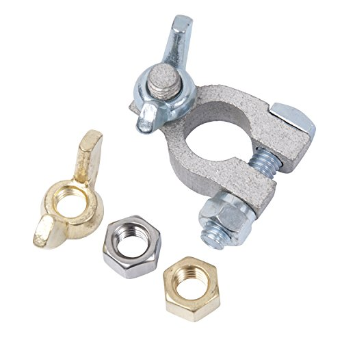 Ancor 260322 Marine Grade Electrical Tinned Copper Battery Terminals (Positive, 1 each 3/8 and 5/16 Wing Nut, 1 each) (Marine Batt Terminal)