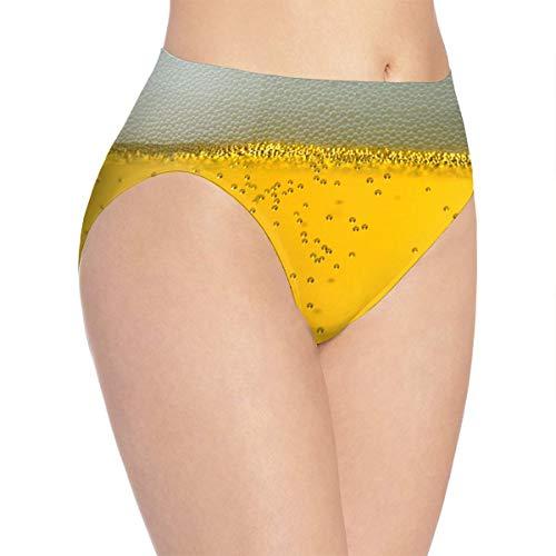 UNGZKSUU Women's Up Beer Glass Sexy Panties S White ()