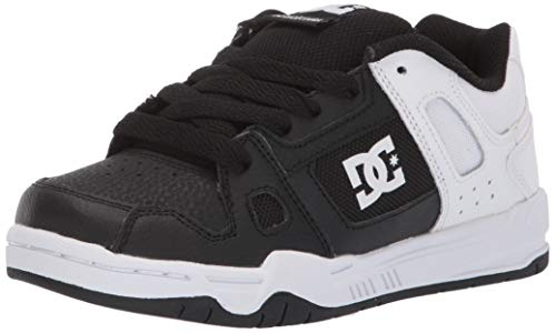 DC Boys' STAG Sneaker Black/White Fade 2.5 M M US Little Kid
