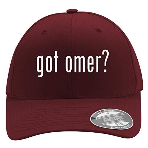 got omer? - Men's Flexfit Baseball Cap Hat, Maroon, Small/Medium (Best Speargun On The Market)