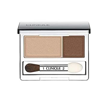 Clinique All About Crease and Fade Resistant Eye Shadow Duo – 0.07 Oz Like Mink