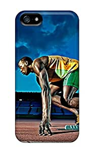 Quality OrangeColor Case Cover With Usain Bolt London 2012 Nice Appearance Compatible With Iphone 5/5s