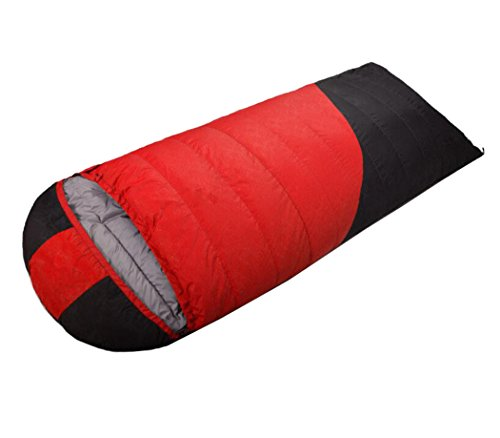Mzq-jj Envelope Lightweight Breathable Waterproof Sleeping Bag Down Sleeping Bag Camping, Travel, Hiking, Backpack Adult Stitching (Capacity : 2500, Color : Red)