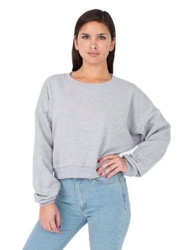 american-apparel-womens-california-fleece-cropped-sweatshirt-size-os-heather