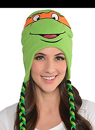 Ninja Turtle Outfits Adults (TNMT Michelangelo ~ Peruvian Winter Knit Hat)