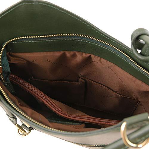 en de en señora Mochila Convertible Verde Piel Bolso Tuscany Saffiano Patty Leather Verde wxqAWSX