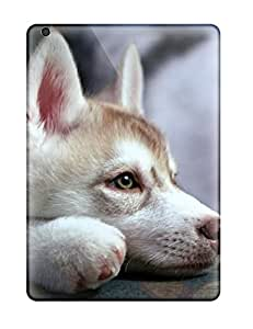 Laura Chris's Shop Best Ipad Cover Case - Husky Puppy Protective Case Compatibel With Ipad Air