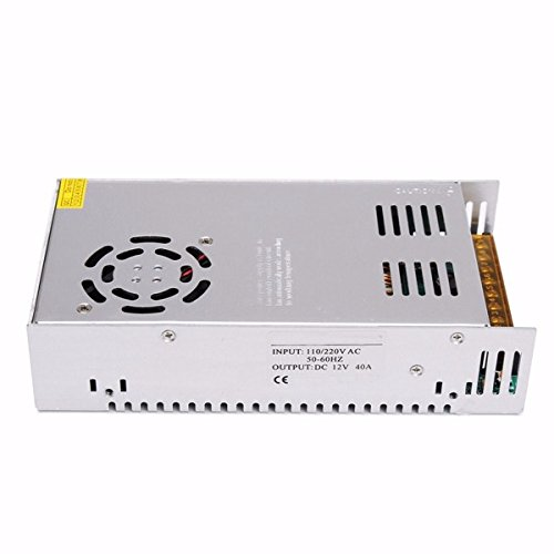 NeDonald AC 110-220V to DC 12V 42A 500W Switching Power Supply Driver Converter for LED Strip Light by NeDonald (Image #3)